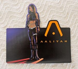 ORIG. 2001 AALIYAH BLACKGROUND RECORDS PROMO STICKER