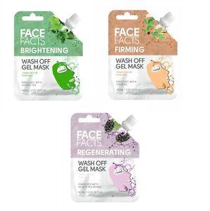 Vegan Wash Off Gel Mask Brightening Firming Regenrating Firm & Tone Skin [60ml]
