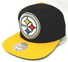 Pittsburgh STEELERS Snapback Cap Hat Mitchell & Ness 2tone Adult OSFM New