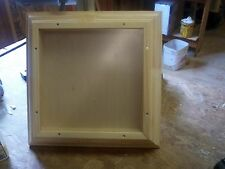 SOLID PINE 16 X 16 X 2  CROWN MOLD FRAME, SHADOW BOX, DISPLAY CASE, FRONT LOAD