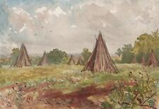 MAJOR-GENERAL SIR GEORGE CHARLES D'AGUILAR Painting COPPICE WOOD PILES c1840