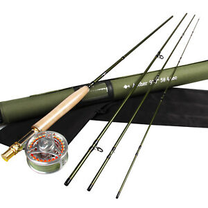 7'/8'/9' Fly Rod 3 4 5 8WT Carbon Fiber Fly Fishing Rod Fly Reel Fly Line Combo