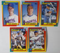 1990 Topps Traded Texas Rangers Team Set of 5 Baseball Cards