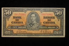 1937 Canada. ($50) Fifty Dollars. Series B/H. Gordon-Towers.