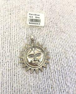 New Sun Shaped Pendant 925 Sterling Silver Unique Collectable / Decorative