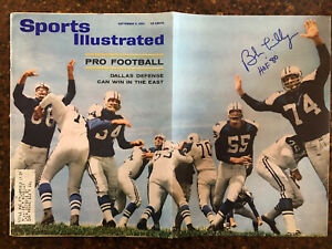Bob Lilly Dallas Cowboys HOF Signed Autographed Sports Illustrated Magazine COA