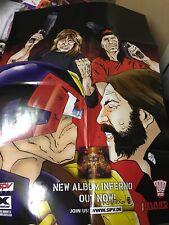 2000 AD Comic Sepultura / Motorhead Promo Poster For Roorback / Inferno LP
