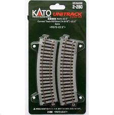 Kato 2-280 Rail Courbe / Curve Track R370 22.5° 4pcs - HO