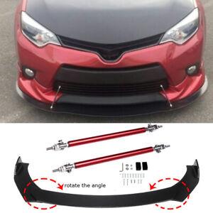 Front Bumper Lip Spoiler Splitter Body Kit + Strut Rods For Toyota Corolla 09-21