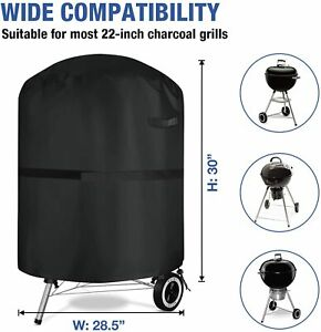 Barbecue Cover Waterproof Heavy Duty Round 72x76cm