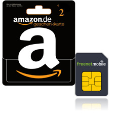 freenetMobile SIM-Karte D-Netz & 2,00 Euro Amazon Gutschein