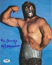 Mil Mascaras Signed WWE 8x10 Photo PSA/DNA COA Pro Wrestling Picture Autograph