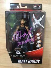Matt Hardy Autographed WWE Woken Elite Figure with COA AEW WWE WCW New Japan