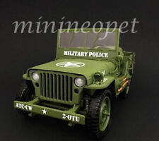 AMERICAN DIORAMA AD 77406 US ARMY WWII JEEP MILITARY POLICE 1/18 DIECAST GREEN
