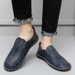 Mens Faux Leather Slip On Loafers Outdoor Casual Shoes Driving Moccasins Pumps