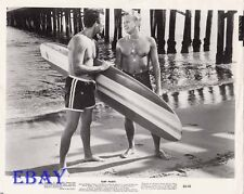 Barechested Men w/surf boards VINTAGE Photo Surf Party