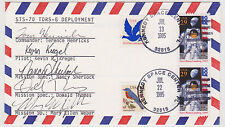 SIGNED SPACE SHUTTLE DISCOVERY STS-70 COMPLETE CREW FDC AUTOGRAPHED FIRST DAY