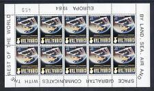Gibraltar 1984 Europa sheetlet 10 inverted watermark mint  (2014/02/27#11)