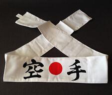 "Japanese Hachimaki Headband Martial Arts Sports ""KARATE"" Cotton Made in Japan"