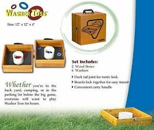 Washer Toss Complete Backyard Lawn Beach Camping Game Set