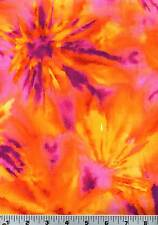 Fabric #1930, Orange, Pink, Gold Color Splash, Blank Quilting, Sold by 1/2 Yard