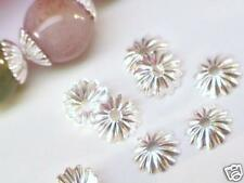 SILVER-PLATED RIBBED BEAD CAPS, 6mm, 50pcs