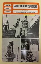 US Silent Movie The Navigator Buster Keaton Donald Crisp French Film Trade Card