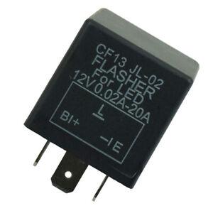 3-Pin Car Flasher Relay Fix Light LED Lamp Turn Signal Hyper Flash CF13 JL-02
