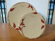 GUY DEGRENNE *NEW* TAHAA SAFRAN Set 2 Assiettes rondes Plates