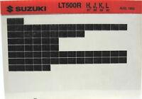Suzuki LT500R 1987 1988 1989 1990 Parts Catalog Microfiche s539