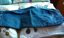 pantacourt femme en jean denim taille 7 comme neuf