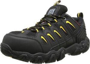 Skechers Men's Work Blais Steel Toe Safety Shoes, BLACK, Men Size 12
