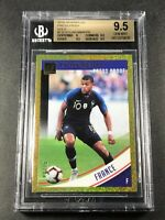 KYLIAN MBAPPE 2018 DONRUSS #132 PRESS PROOF GOLD HOLOFOIL PARALLEL /75 BGS 9.5