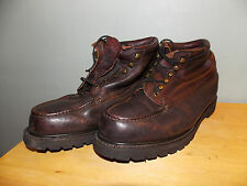 1990's Unknown Brand Low/Mid Brown Leather Boots Men's Size 11 3E Usa Made used