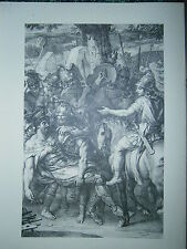 Planche gravure Les batailles d'Alexandre Porus blessé