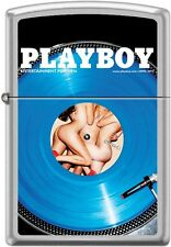 Zippo Playboy April 2013 Cover Satin Chrome Windproof Lighter NEW RARE