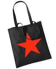 RED STAR Cotton Bag Stoffbeutel schwarz