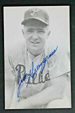 Jim Greengrass (d.2019) Philadelphia Phillies Signed Autograph 3x5 Postcard