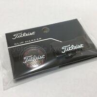 Titleist AJBM5-BK1 Golf Ball Cap Clip Marker Black 30322 JAPAN