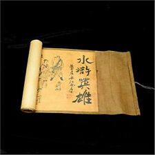 Collection of Chinese Old scroll painting on silk: the Water margin 13.18 inch