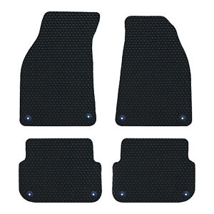 Audi A6 C6 2004-2011 GENUINE DELUXE Tailored Fitted Rubber Car Floor Mats BLACK