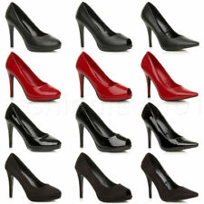 Mens Womens Drag Queen Crossdresser High Heel Pointy Court Shoes Boots Size 9-12