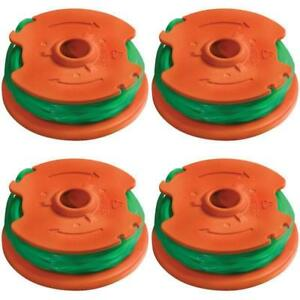 4 sets Worx WA0014 Spool & Line for WG168, WG190 & WG191 Cordless String Trimmer