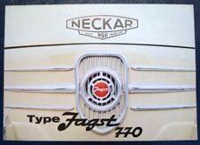 NSU / FIAT JAGST 770 SALES BROCHURE C 1965?