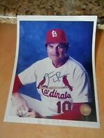 St. Louis Cardinals TONY LA RUSSA Signed Autographed 8 x 10 with COA