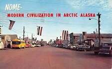 Nome Alaska Street Scene Store Fronts Vintage Postcard K27819