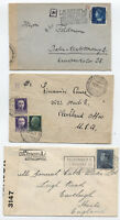 Group of 4 European covers 1930s-1940s [y1848]
