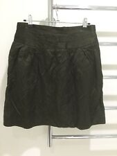 Cue Evening Skirt Crinkle Sheen Fabric Olive Green Size 10