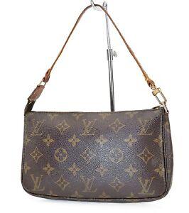 Authentic LOUIS VUITTON Accessory Pochette Monogram Hand Bag #39753