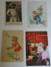 4 postcards of the Germany 1930s, 1950s. Children.